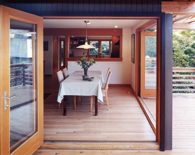 Outdoor Open dining room CTA Design Build