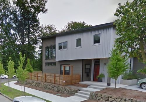 madison park new home arboretum residence metal siding | CTA Design Builds | Seattle Architects