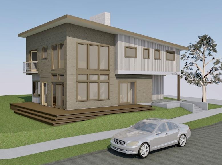 madison park new home arboretum residence metal siding | CTA Design Builds | Seattle Architects