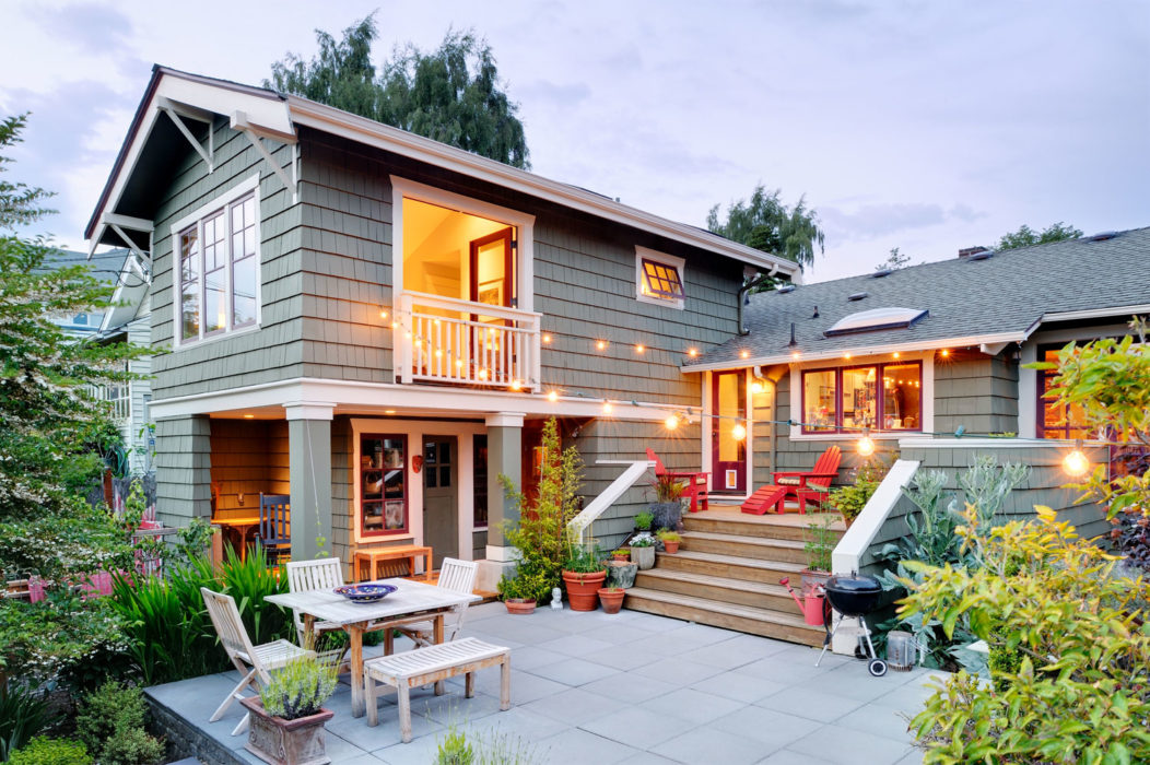 master suite addition ADU with outdoor living craftsman home seattle