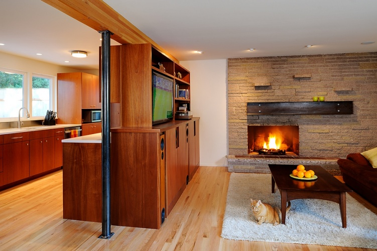 Mid-Century Modern House - Seattle Architects -Design Build - Mid-Century, Remodel