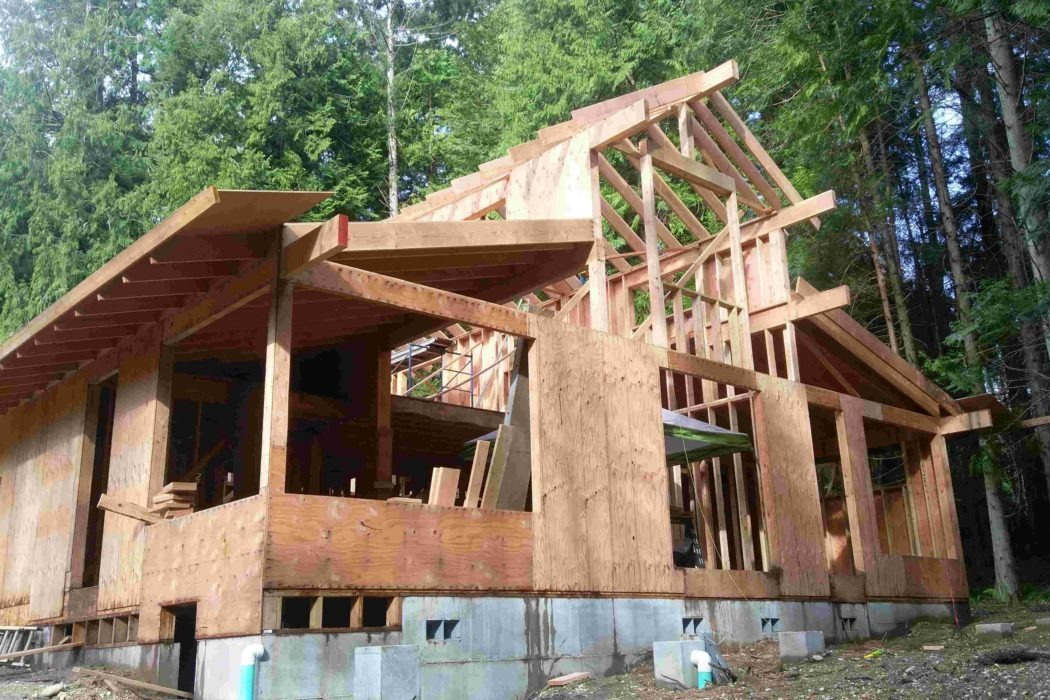 Bainbridge Island new house construction