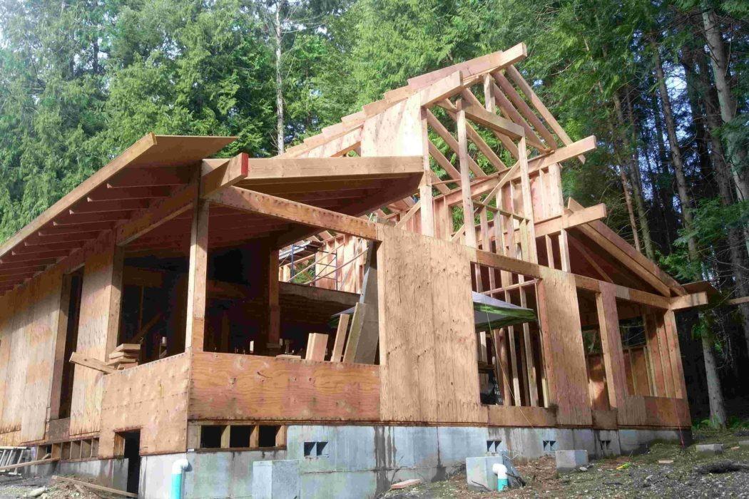 Bainbridge Island new house construction