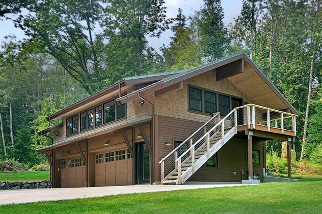 Kitsap-Lodge-in-the-Woods-completed exterior