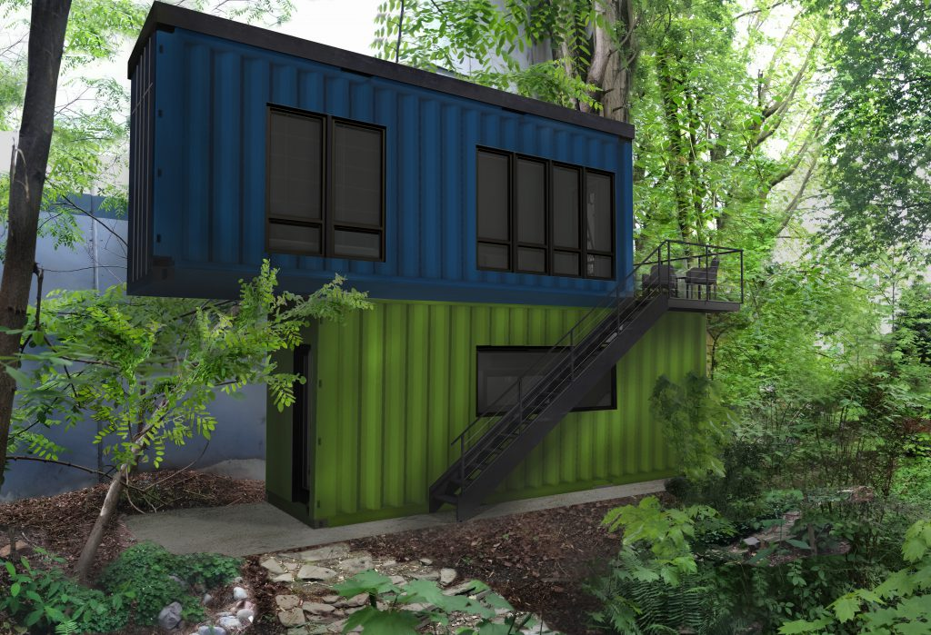shipping containers office. Two Shipping Containers Are Getting A New Life In Georgetown \u2013 As Backyard Office For Our Busy Client!
