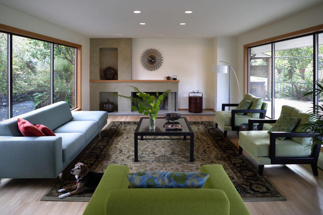 Blue Ridge Northwest Mid Century Modern - Living Room