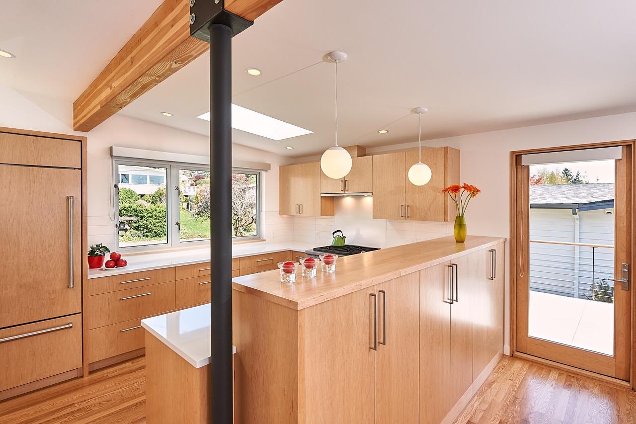 mid century modern kitchen bellevue