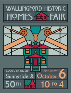 poster for wallingford historic homes fair