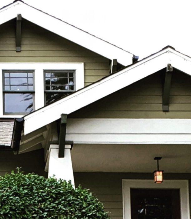 craftsman home closeup in wallingford neighborhood seattle
