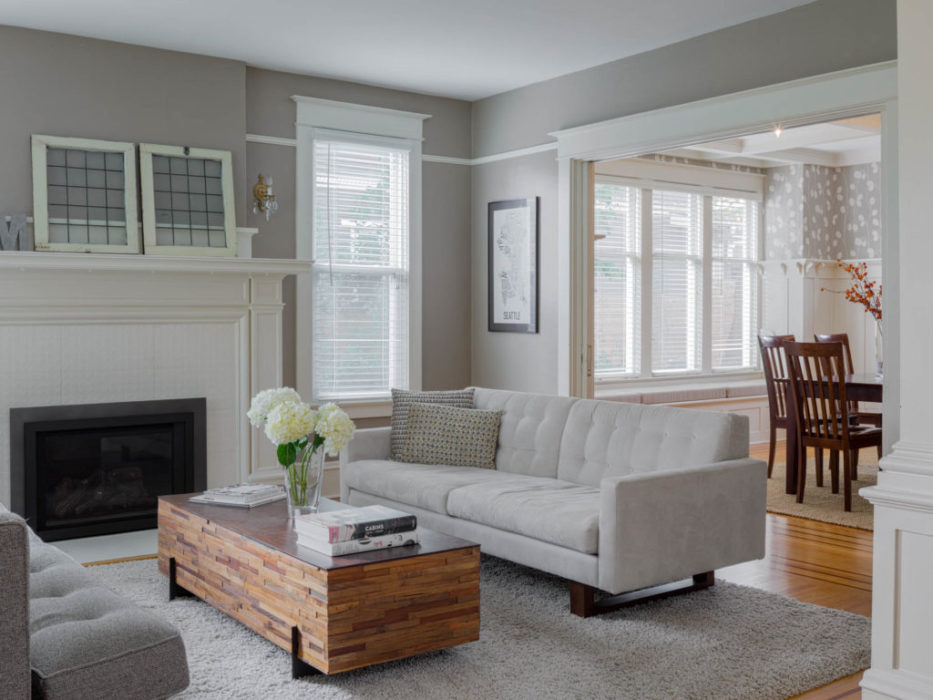 Capitol Hill Seattle Interior remodel  living room