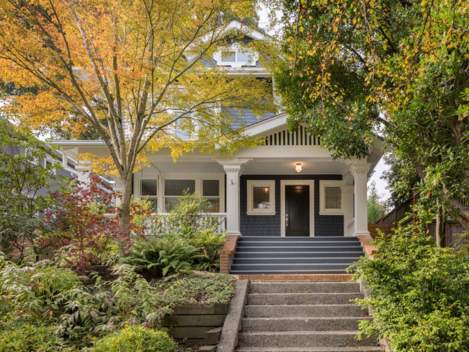 Capitol Hill Seattle Classic Home exterior