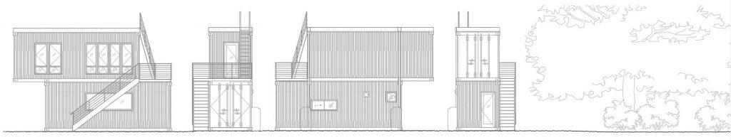 hipping container office elevations seattle