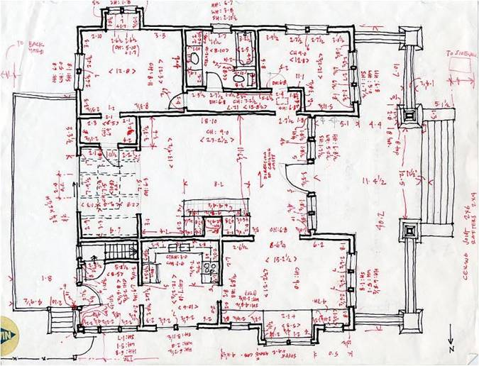 as built architectural drawings for home remodel