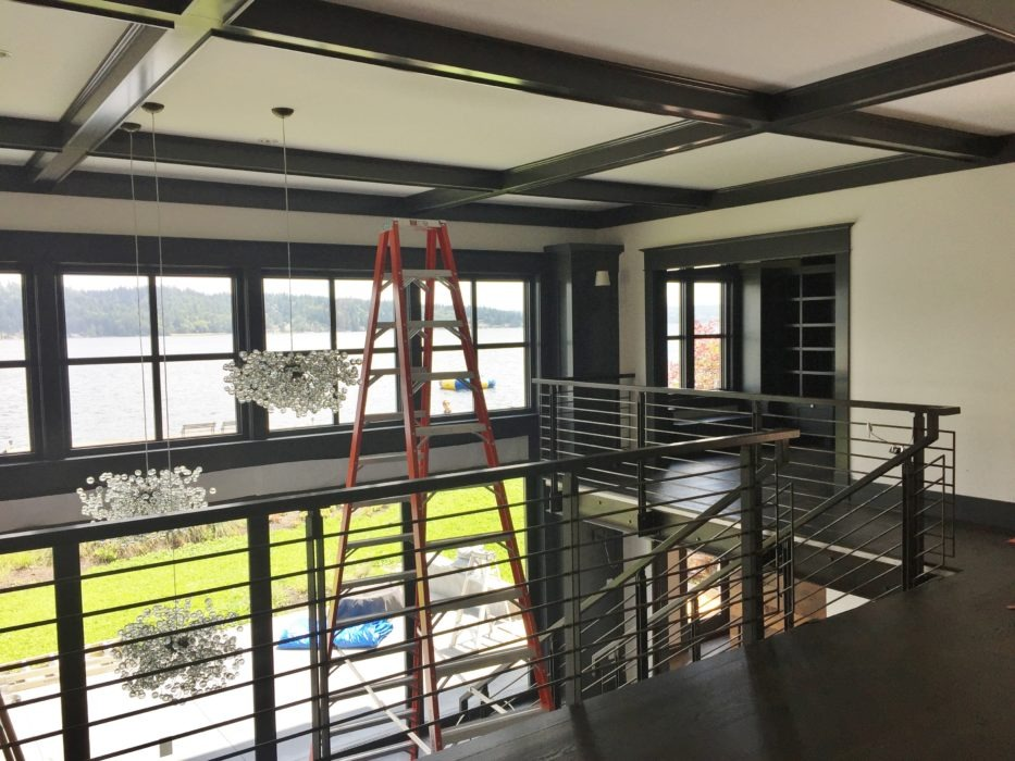 lake house remodel nearing completion