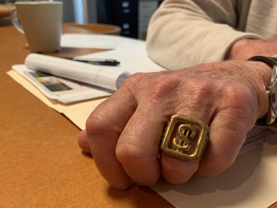 money sign bling ring