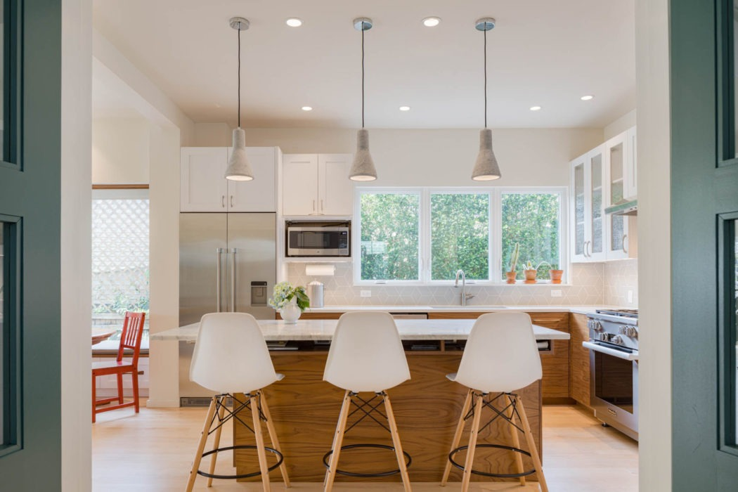The remodeled kitchen at the Wallingford Urban Farmhouse.