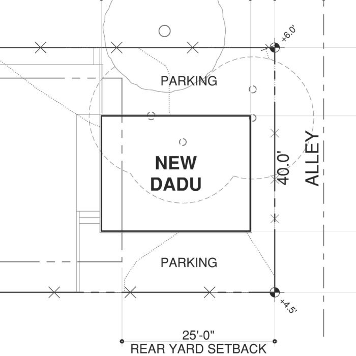 seattle dadu backyard cottage site plan