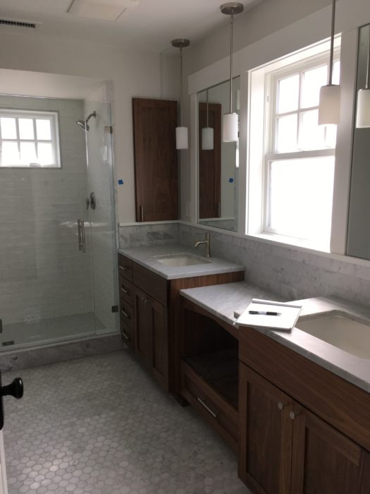final walk through punch list of a master bath in a queen anne home remodel