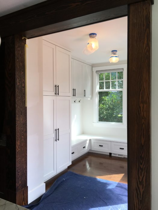 mud room of whole house remodel queen anne seattle